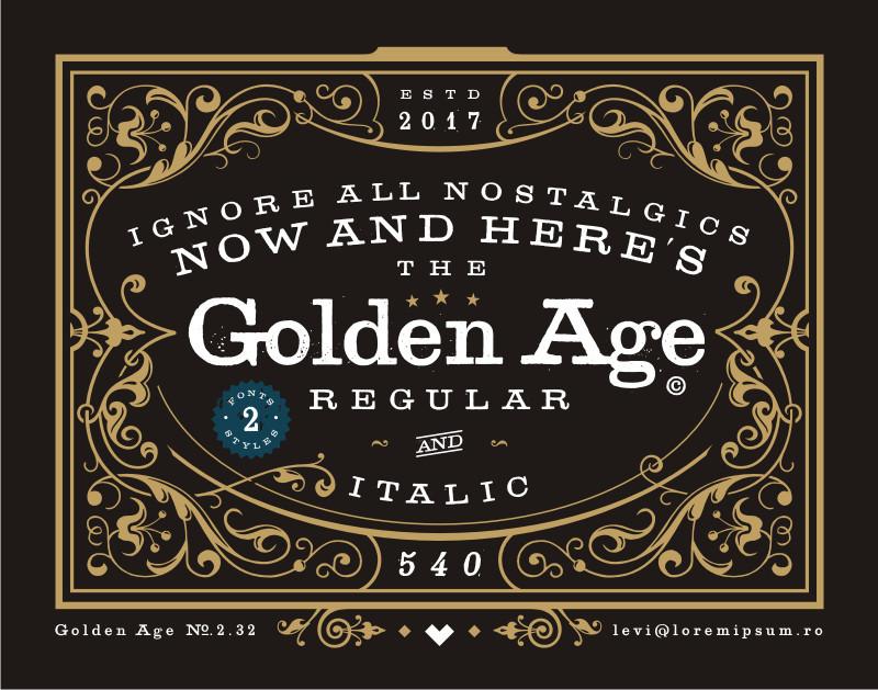 Golden Age Typeface - Befonts.com