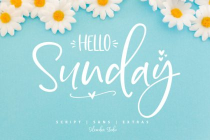 Hello Sunday Font Duo - Befonts com