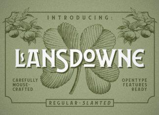Lansdowne Vintage Font