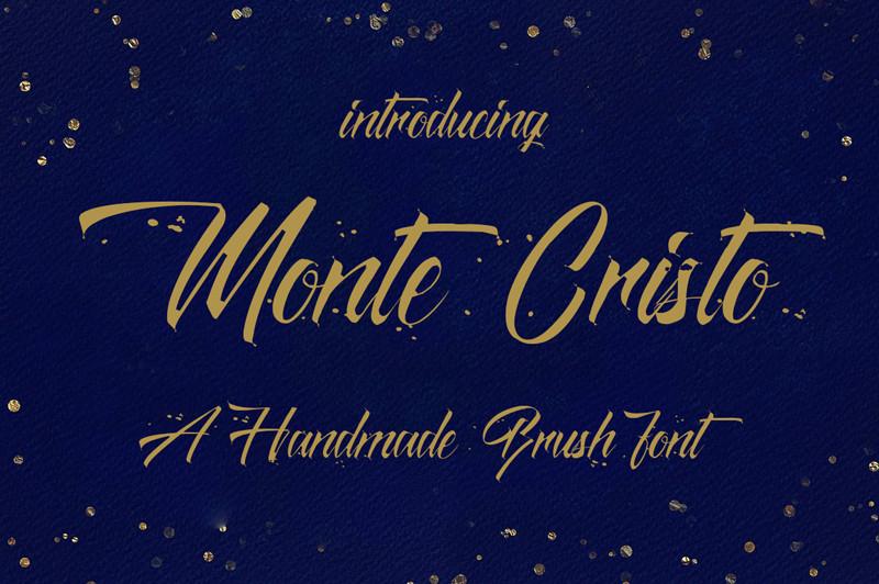 Monte Cristo Brush Font Befonts Com