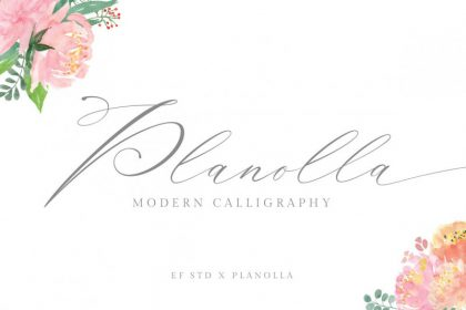 Planolla Calligraphy Font