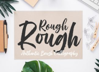 Rough Rough Brush Font
