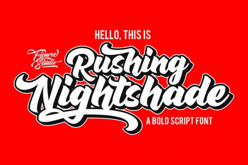 Rushing Nightshade Script Font Befonts Com