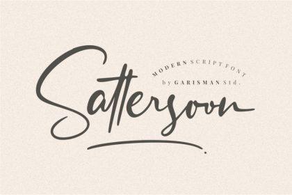 Sattersoon Script Font