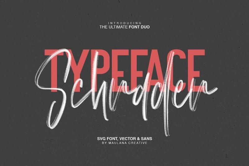 Schrader SVG Brush Font