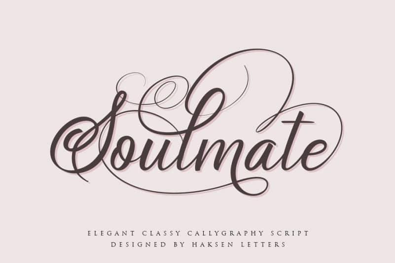 Soulmate Calligraphy Font - Befonts com