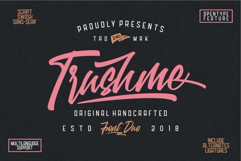 Trushme Font Duo - Befonts com