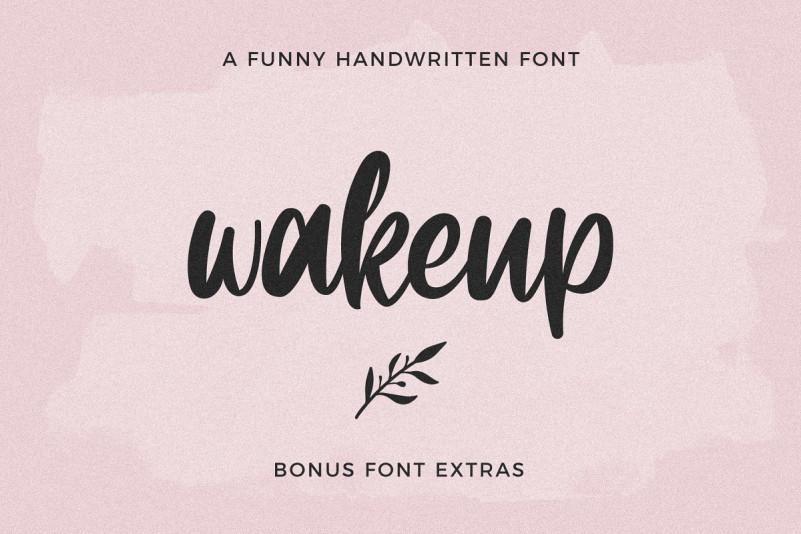 Wakeup Script Font