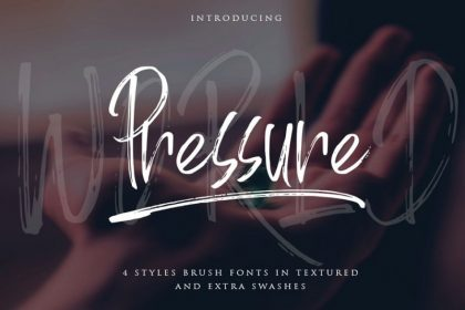 World Pressure Brush Font