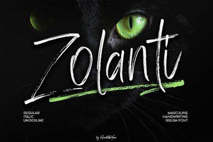 Zolanti Script Font