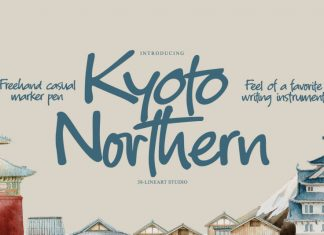 Kyoto Northern Handwritten Font