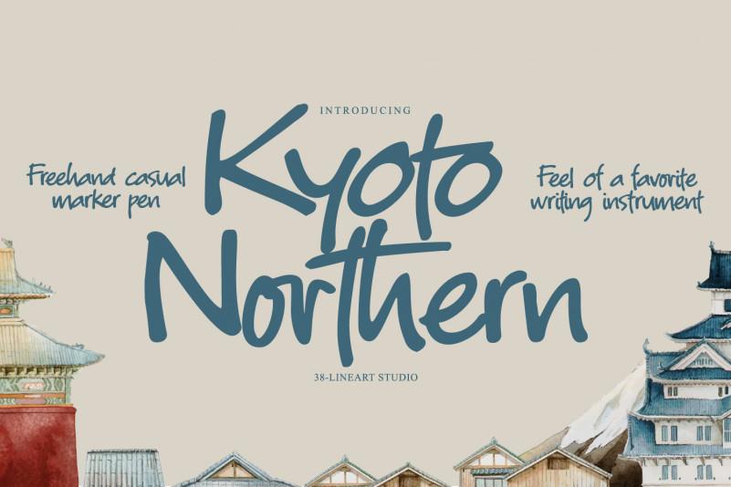 Kyoto Northern Handwritten Font