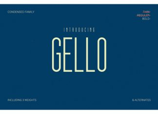 Gello Display Font