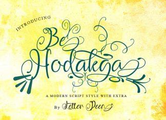 Be Hodakga Modern Script Font