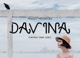 Davina – Vintage Sans Serif Font