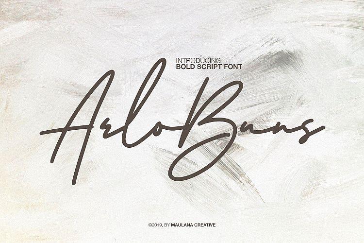 Arlobuns Signature Font