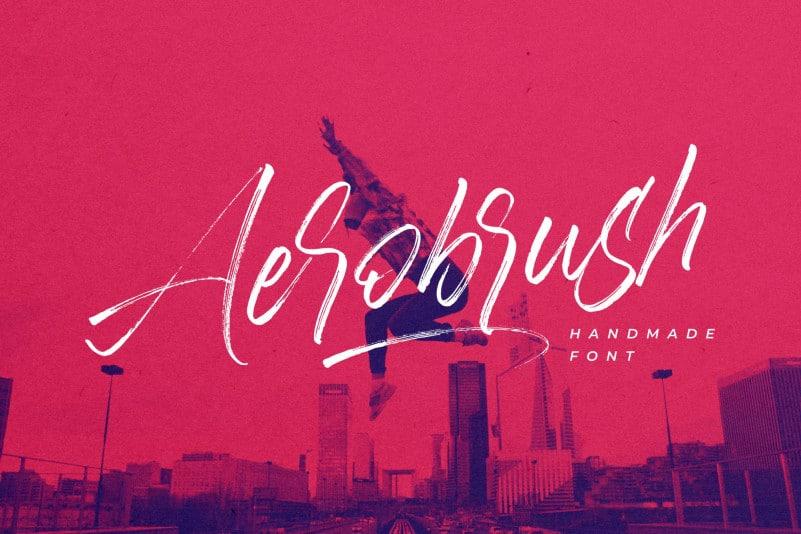 Aerobrush Brush Font