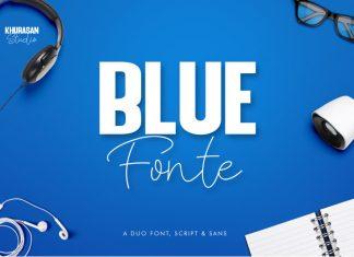 Blue Fonte Font Duo