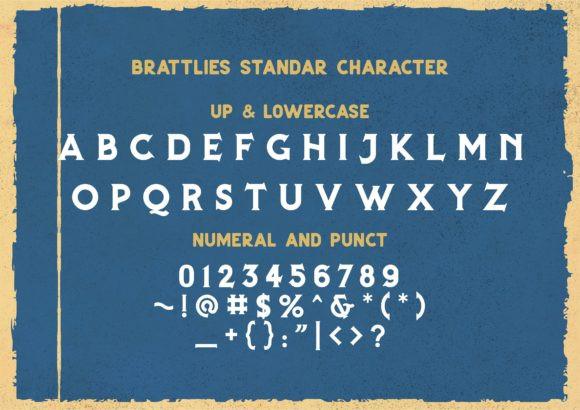 Brattlies 1851's Font