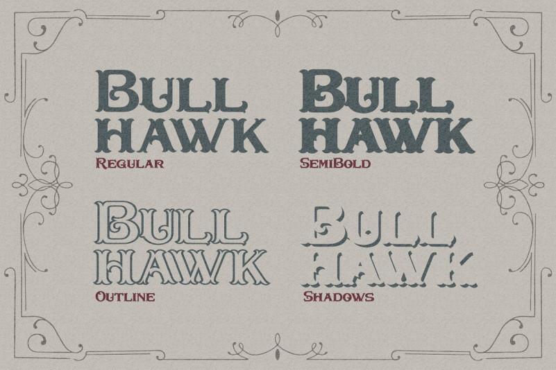 Bullhawk Layered Font - Befonts com