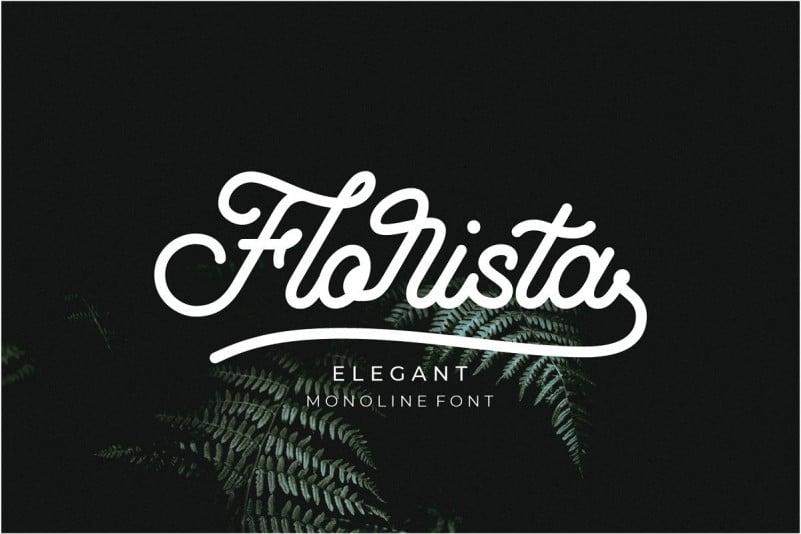 Florista Script Font