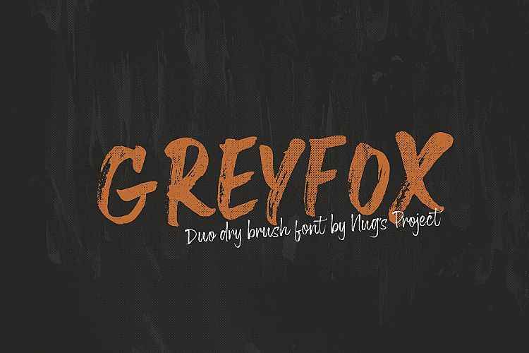 Greyfox Brush Font