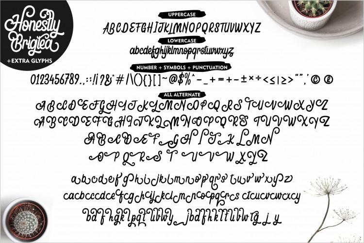 Honestly Brigtea Font
