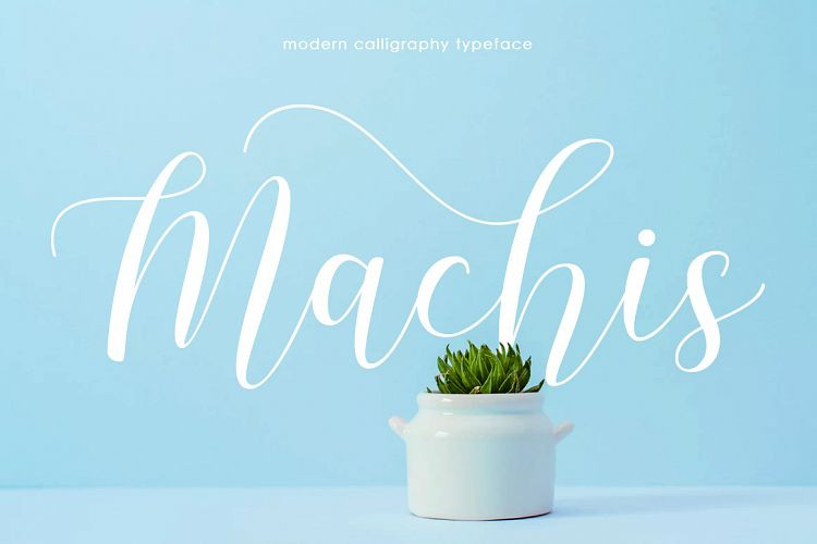 Machis Calligraphy Font