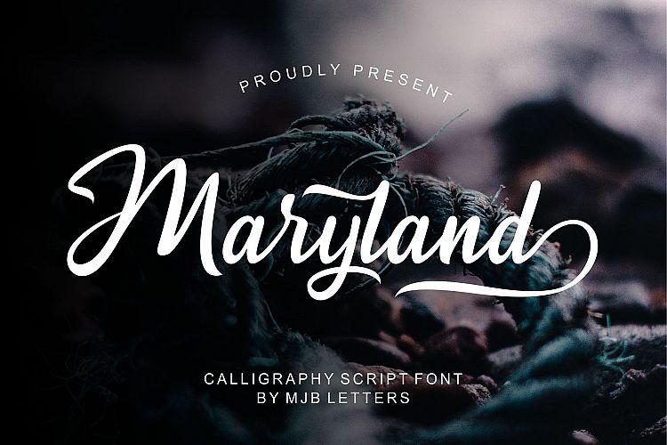 Maryland Calligraphy Font