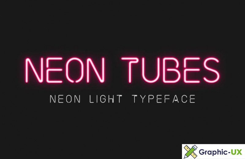 Neon Tubes – Neon Light Font free - Befonts com