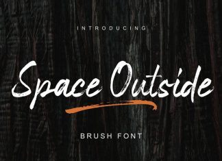 Space Outside Brush Font