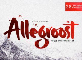 Allegroost Script Font