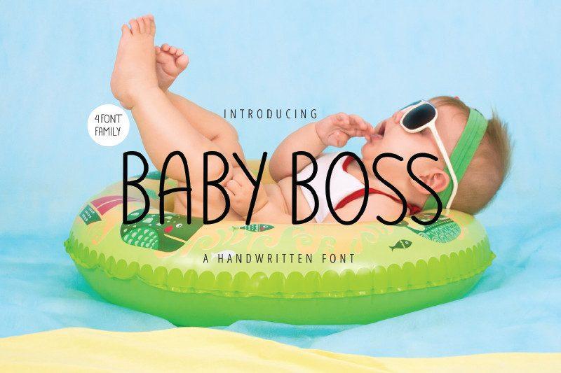 Baby Boss Handwritten Font