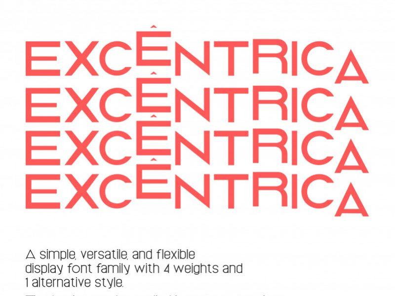 EXCÊNTRICA Display Font