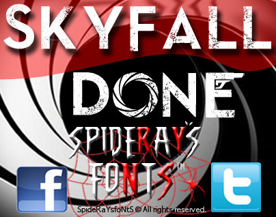 Skyfall Done Font