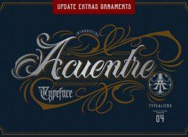Acuentre Script Font