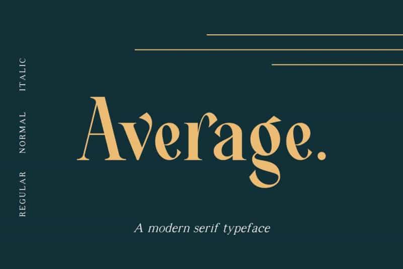 Average Serif Font