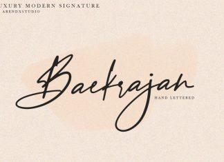 Baekrajan Handwritten Font