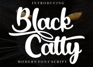 Black Catty Script Font