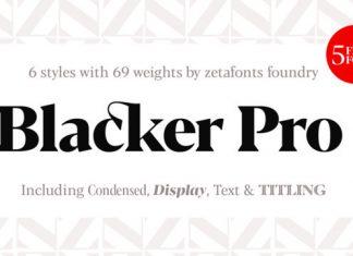Blacker Pro Font Family