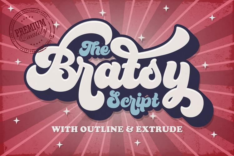 Bratsy Bold Script Font