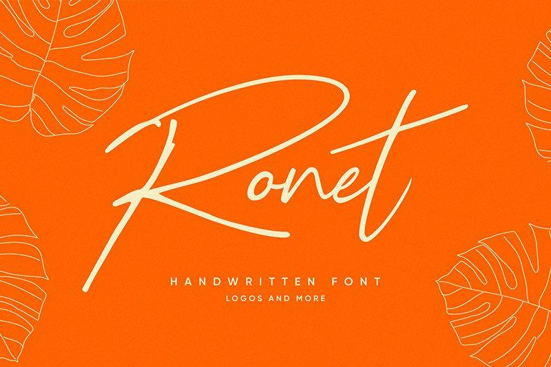 Ronet Script Font