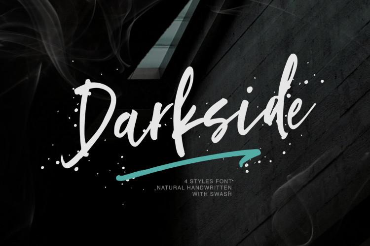 Darkside Brush Font