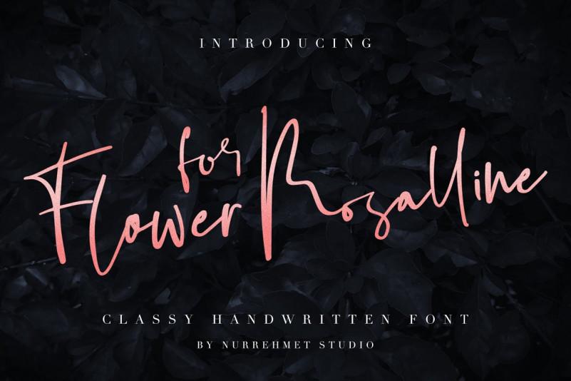 Flower for Rosalline Script Font
