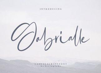 Gabrialle Script Font