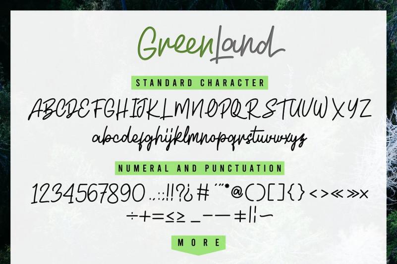 Greenland Script Font Duo