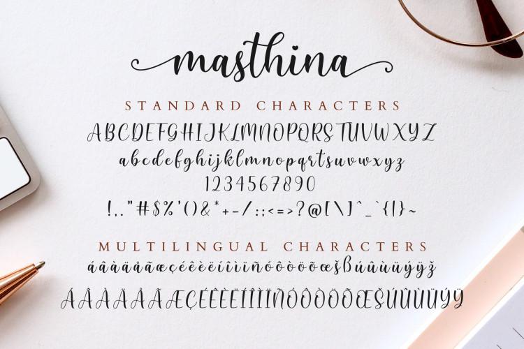 Masthina Script Font
