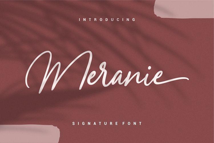 Meranie Signature Font