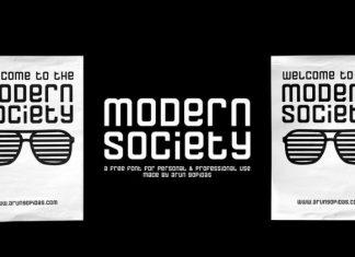 Modern Society Free Font
