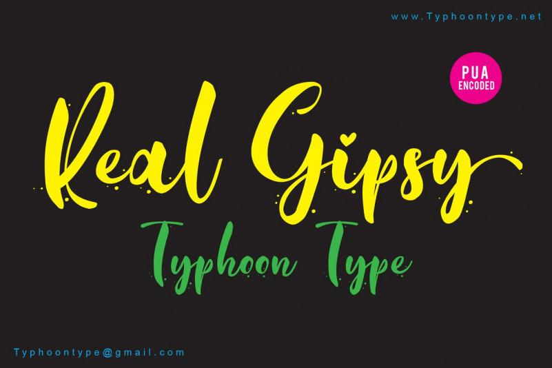 Real Gipsy Script Font